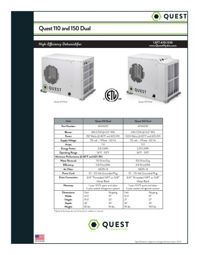 Quest 110 and 150 Dual