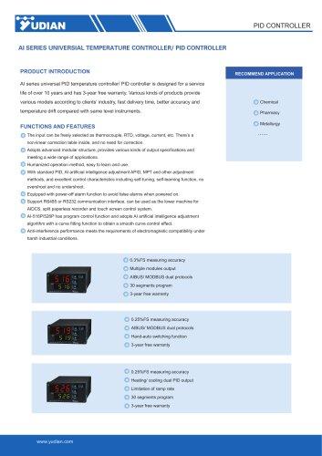 Yudian PID Controller AI-516/AI-516P/AI-519/AI-526/AI-526P
