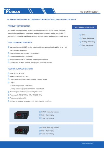 Yudian PID Temperature Controller AI-208/AI-218