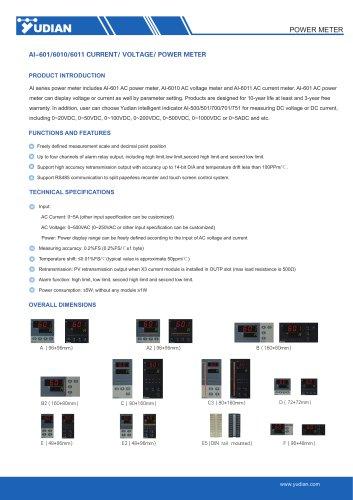 Yudian Power Meter AI-601/AI-6010/AI-6011