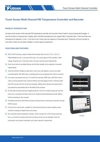 Yudian Touch Screen Multi Channel Controller AI-35028/AI-35048/AI-37028/AI-37048/AI-39028/AI-39048