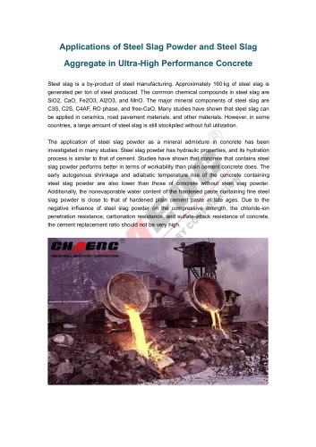 Applications of Steel Slag Powder and Steel Slag Aggregate in Ultra-High Performance Concrete