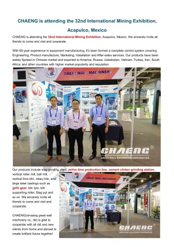 CHAENG+Active lime production line+Mine&Cement industry+Large production