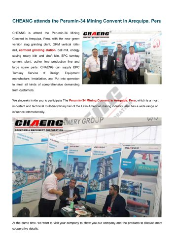 CHAENG+Perumin-34 Mining Convent+Cement&Mine industry+Energy saving