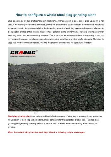 CHAENG+Steel slag grinding plant+Steel industry+High operating rate, energy saving