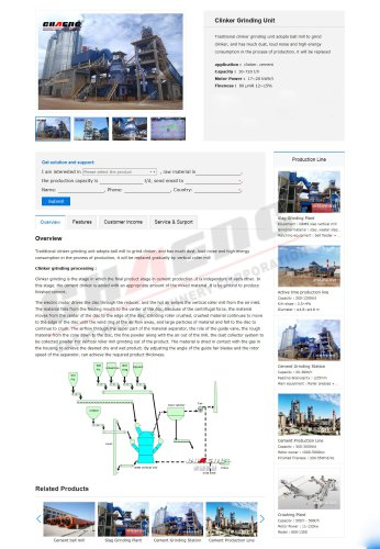 Clinker grinding unit from China