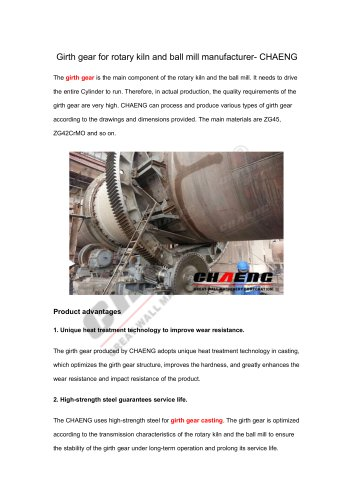 Girth gear for rotary kiln and ball mill manufacturer-CHAENG