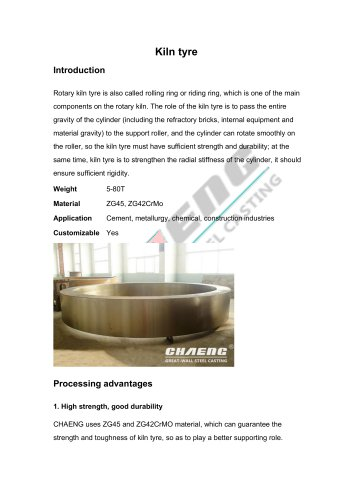 Riding ring of rotary kiln