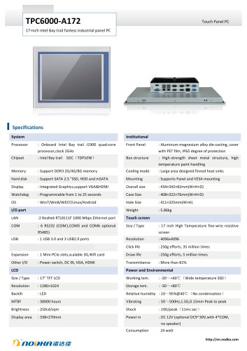 TPC6000-A172 Datasheet
