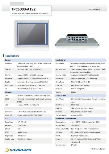 TPC6000-A192 Datasheet