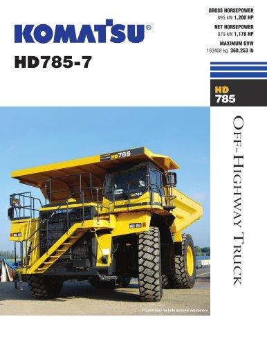 HD785-7 - Komatsu Construction and Mining Equipment - PDF Catalogs