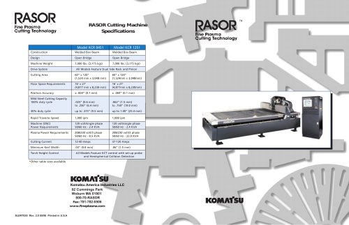 Rasor 5x10 Brochure