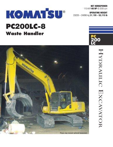 Waste Handling Excavators PC200LC-8