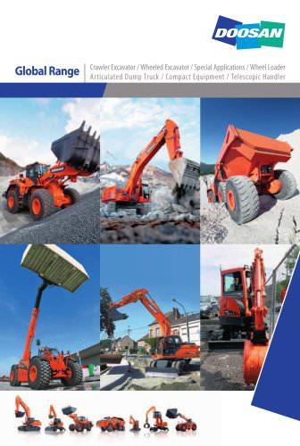 Crawler Excavator / Wheeled Excavator / Special Applications / Wheel Loader