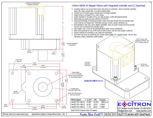 AuG110 Gearhead