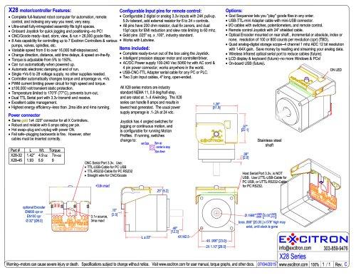X28 motor/controller Features