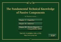 The Fundamental Technical Knowledge of Passive Components