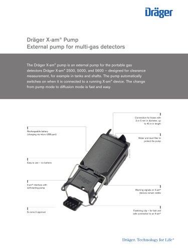 Product Information: Dräger X-am Pump