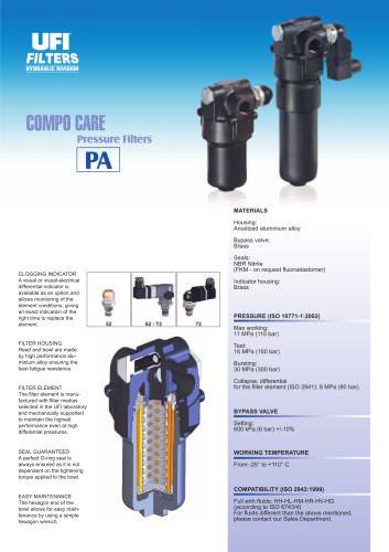 PA - COMPO CARE - pressure filters