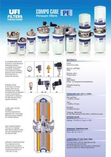 PE - COMPO CARE - pressure filters