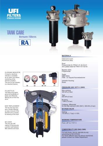 RA - TANK CARE - return filters
