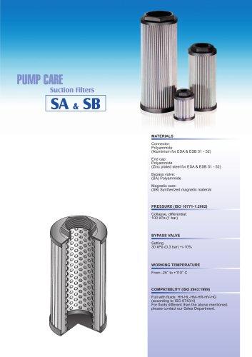 SA-SB - PUMP CARE - suction filters