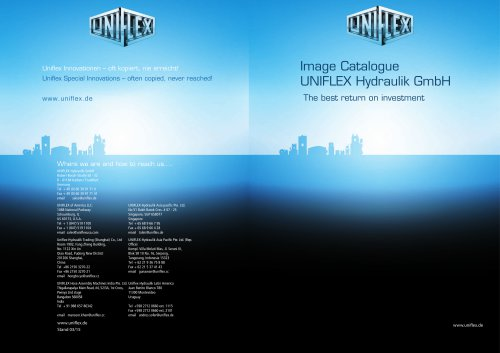 Image Catalogue UNIFLEX Hydraulik GmbH