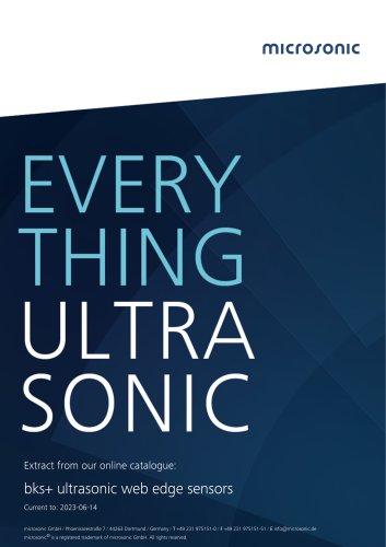 bks+ ultrasonic edge sensors