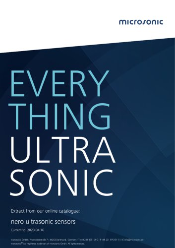 nero ultrasonic proximity switch