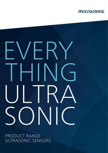 Online Catalogue ultrasonic sensors