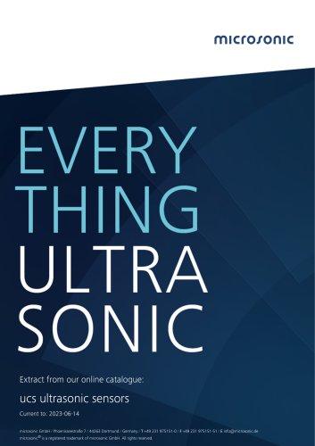 ucs ultrasonic sensors