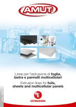 Extrusion lines for foils, sheets and multicellular panels