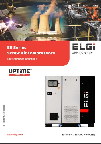 EG Series Screw Air Compressors 11-75kW
