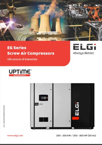 EG series Screw air compressors