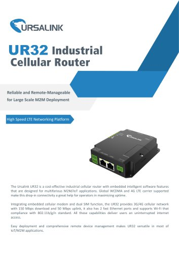 UR32 Industrial Cellular Router - Ursalink Technology Co