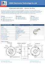 CENO 1000M Ethernet slip ring ECN038-04P3-04P2-02EG - 1