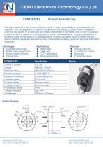 CENO 12 circuits 15Amp hollow shaft slip rings ECN038-12P3 - 1