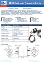 CENO 1Gbps Ethernet slip ring with hole 25mm ECN025-08P1-02EG - 1
