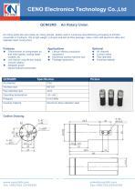CENO 2 channel Pneumatic rotary union QCN02M5 - 1