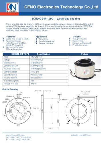 CENO 200mm through hole slip ring ECN200-04P-12P2