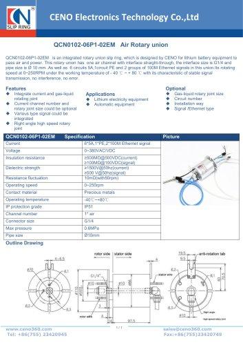 CENO Air Rotary union QCN0102-06P1-02EM