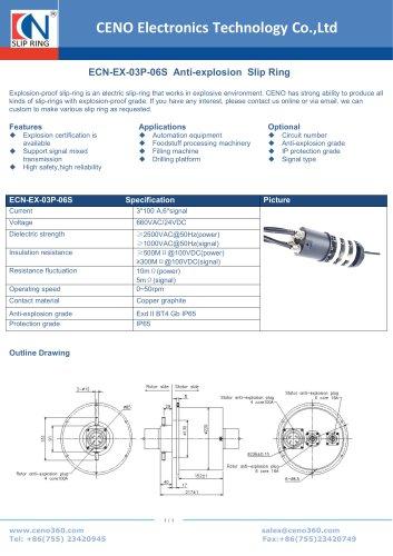 CENO Anti-explosion Slip Ring ECN-EX-03P-06S