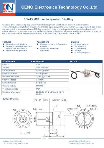 CENO ATEX Slip ring ECN-EX-06S