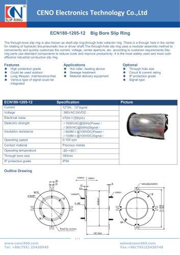 CENO Big Bore Slip Ring ECN180-1205-12
