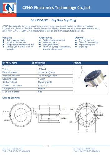 CENO Big Bore Slip Ring ECN550-06P3