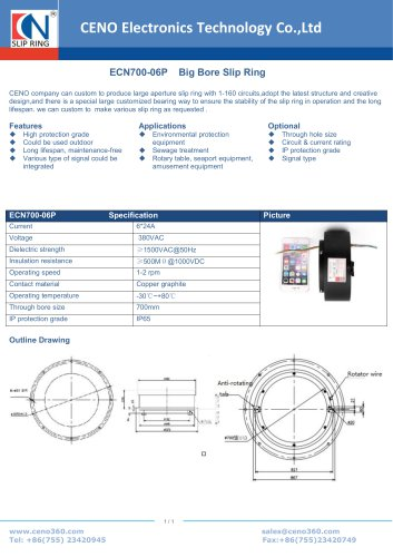 CENO Big Bore Slip Ring ECN700-06P
