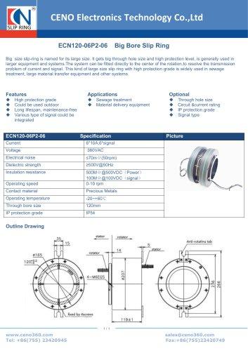 CENO Big Hole Slip Ring ECN120-06P2-06