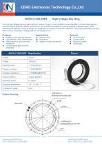 CENO Carbon brush slip ring with 260mm hole BHCN-C-260-02P2 - 1