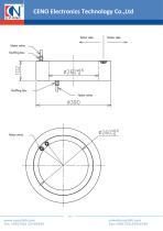 CENO Carbon brush slip ring with 260mm hole BHCN-C-260-02P2 - 2