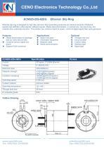 CENO Ethernet slip ring with 25.4mm hole ECN025-25S-02EG - 1